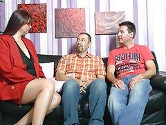 BBW, Big Boobs, German, Mature, Threesome