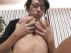 Big Boobs, Brunette, Facial, Handjob
