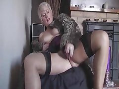 Blonde, Masturbation, Mature, MILF, Stockings