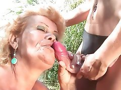 Mature, Lesbian, Outdoor, Old and Young