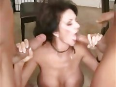 Big Black Cock, Big Nipples, Facial, Interracial