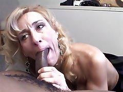 Blowjob, Facial, Interracial, Blonde