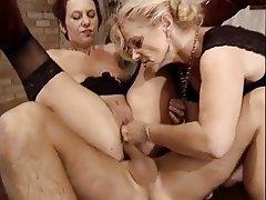 Anal, German, Mature, Stockings