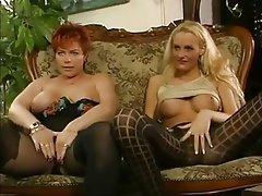 Big Boobs, German, MILF, Redhead, Threesome