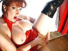 Blowjob, Pantyhose, Redhead, Stockings